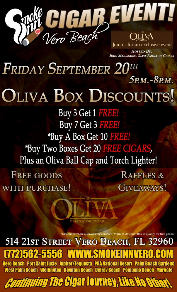 Oliva Cigar Event Smoke Inn Vero Beach