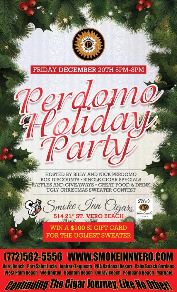 Perdomo Holiday Cigar Party