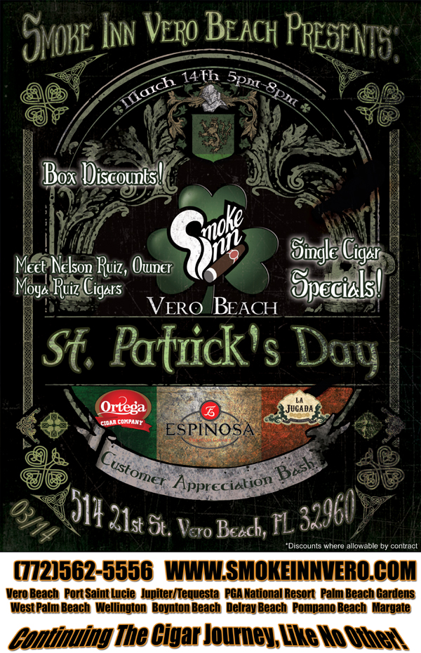 Saint Patrick's Day Cigar Bash