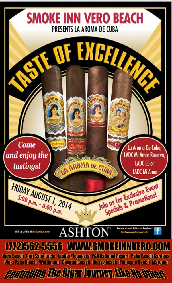 Vero Beach Cigar Store Ashton Taste of Excellence