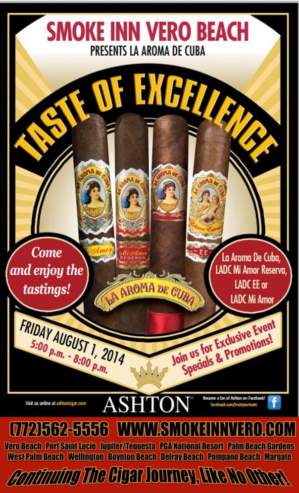 Vero Beach Cigar Store Ashton Taste of Excellence