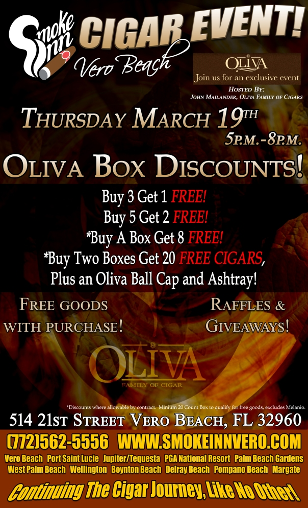 Oliva Cigar Event Smoke Inn Cigars Vero Beach