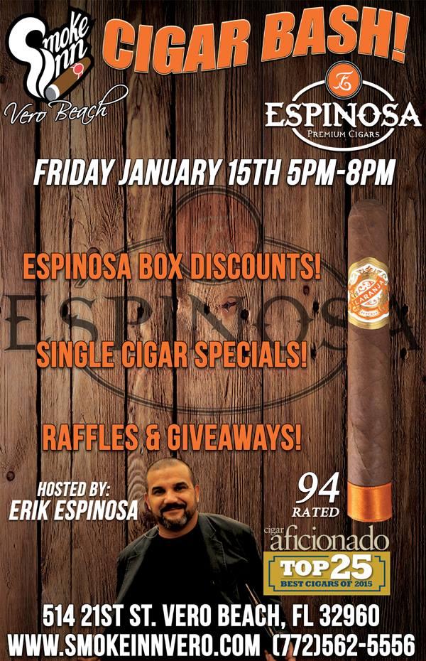 Espinosa Cigar Event- Laranja Reserva Toro Rated 94 by Cigar Aficionado
