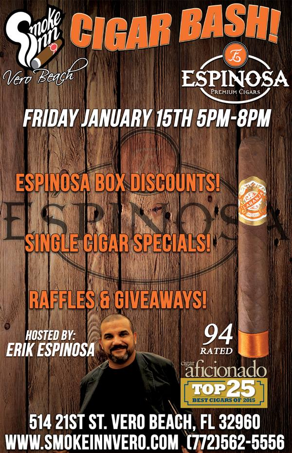 Espinosa Cigar Event- Laranja Reserva Toro Rated 94 by Cigar Aficionado