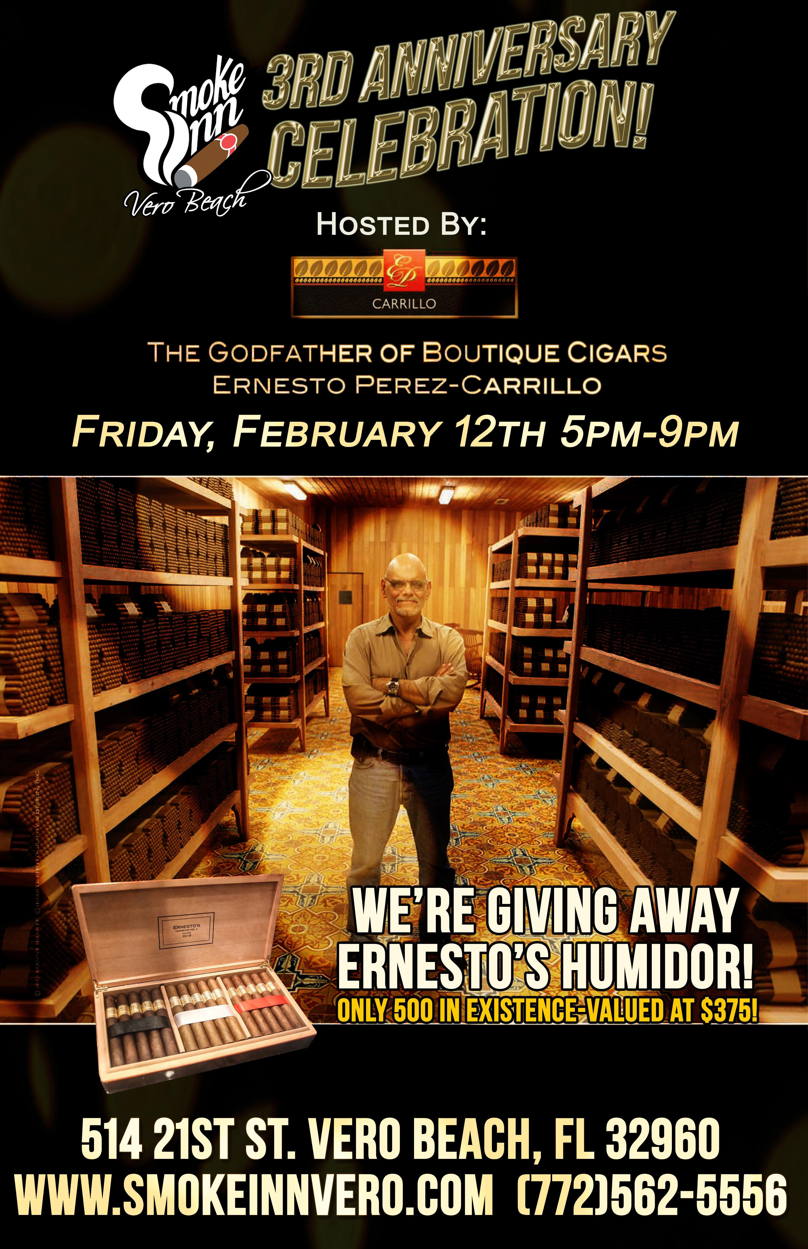 Smoke Inn Cigars Vero Beach_3rd Anniversary hosted by_Ernesto Perez-Carrillo