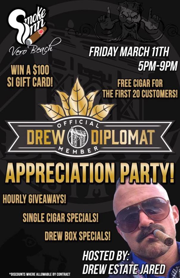 Drew Diplomat Appreciation Party_Smoke Inn Cigars Vero Beach
